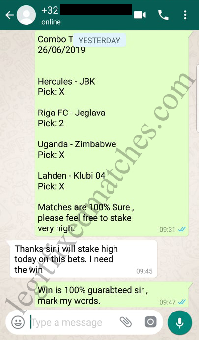 betting fixed matches 100% sure
