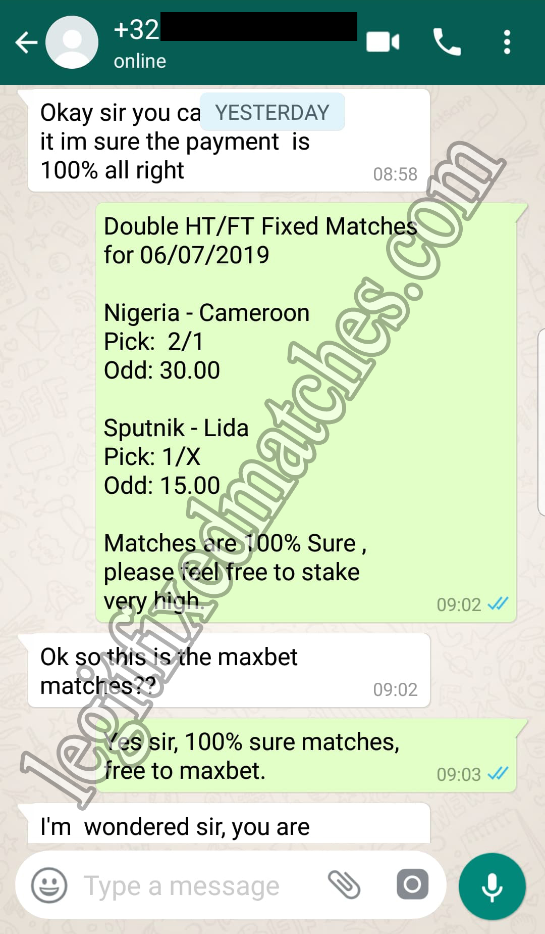 strong fixed matches 100%