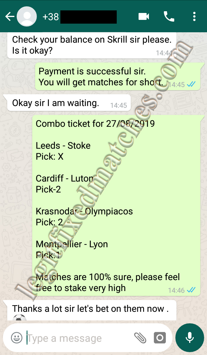 vip ticket fixed matches