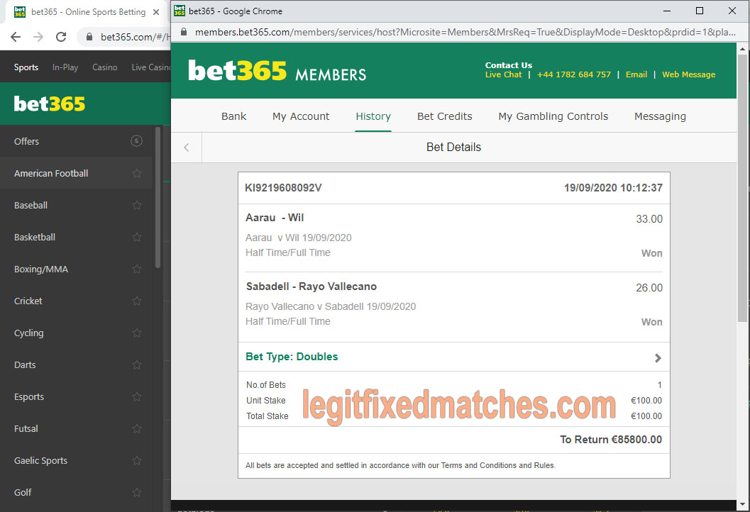 best legit reliable fixed matches